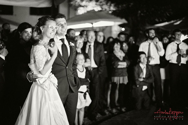 sposi durante ricevimento matrimonio a La Federica Novi Ligure