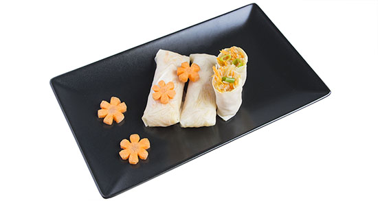 Chinese food - Cold spring roll of carrot and vermicellis