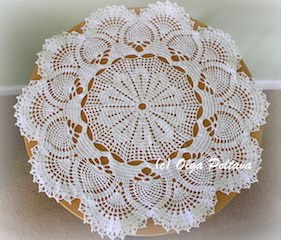 Pineapples and Fans Doily, $3.99