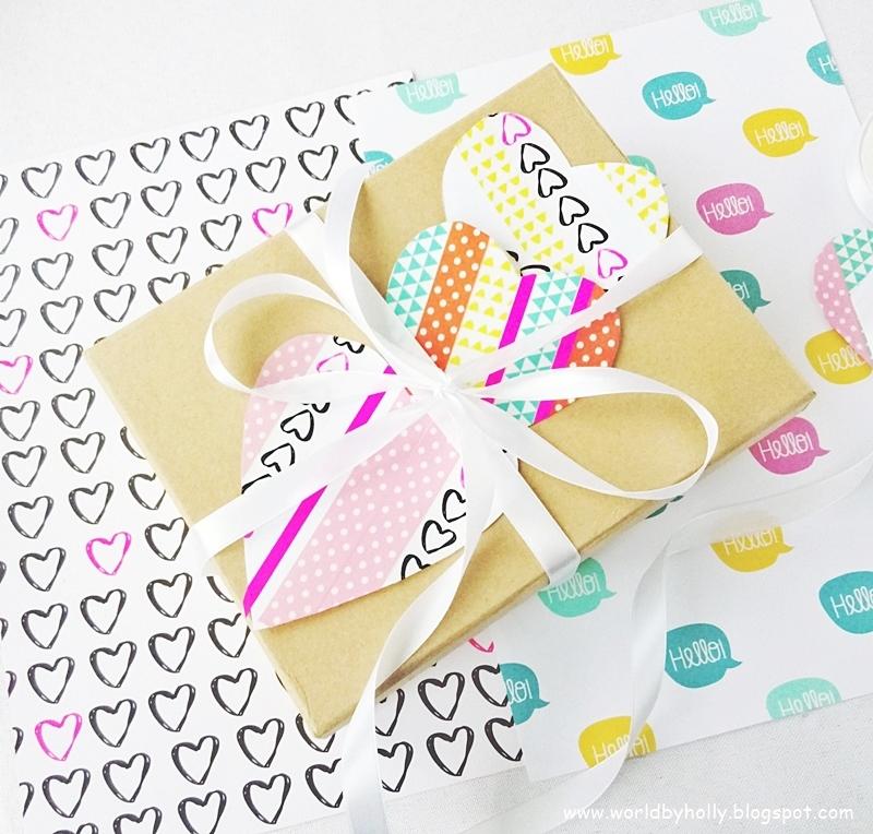 serce z papieru, jak ozdobić serce z papieru, dekoracja na Walentynki, serce na walentynki, dekoracja taśmami wasi tape, jak zrobić dekorację na Walentynki