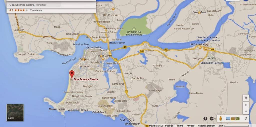 Goa Science Centre India Location Map,Location Map of Goa Science Centre India,Goa Science Centre India accommodation destinations attractions hotels map reviews photos pictures,planetarium goa science museum,csir science centre goa