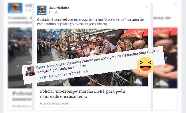 Você se incomoda com notícias sobre homossexualidade? Cuidado