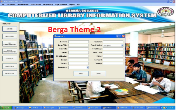 Sorce Code System Perpusatakaan Versi Berga 2.1 Berbasis Visual Basic.NET with MySql and Crystal Reports