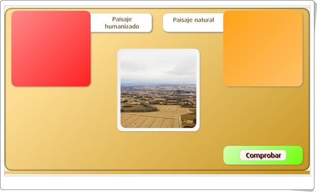 """""""Paisajes naturales y paisajes humanizados"""" (Juego de Ciencias Sociales de Primaria)"""