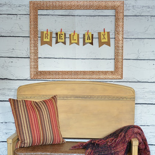 Vintage Waterfall Headboard Bench with Embossed Leather Hide Seat