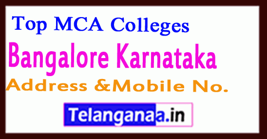 Top MCA Colleges in Bengaluru Karnataka