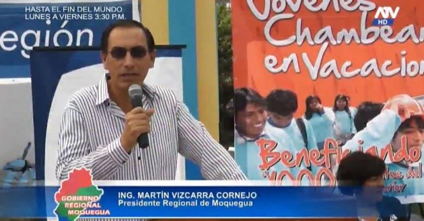 Martín Vizcarra logró que Moquegua lidere el ránking de educación 2014 [VIDEO]