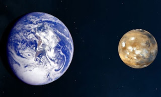 comparison of Mars and Earth