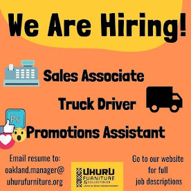 We are hiring: Sales Assistant, Promotions Assistant and Truck Driver!