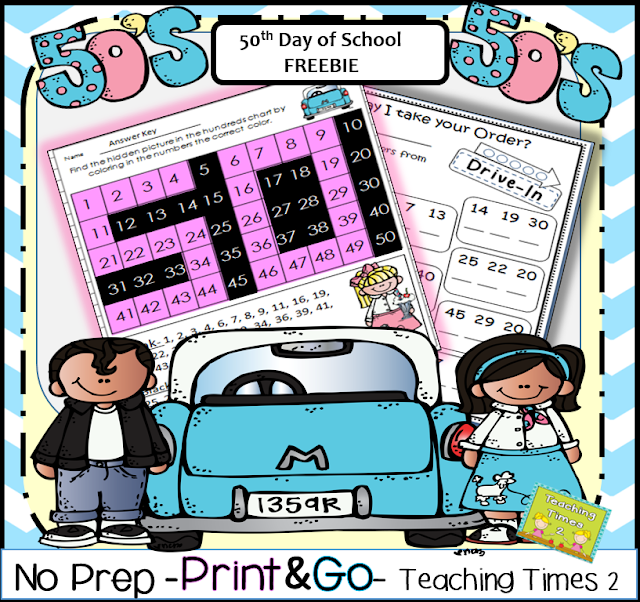 https://www.teacherspayteachers.com/Product/50th-Day-of-School-Activities-and-Craft-Freebie-1643123