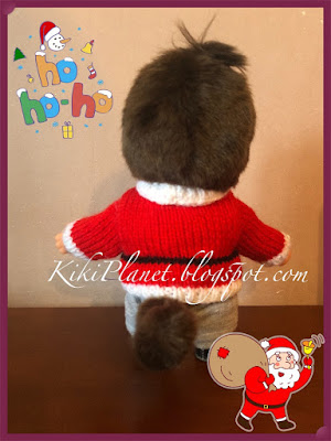 kiki monchhichi pull Noël tricot handmade fait main christmas