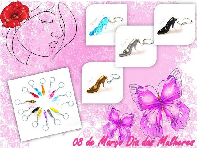 Chaveiro de Mini Sapatinho - Lembracinha Dia Internacional da Mulher