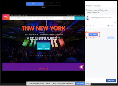 البث المباشر على فيسبوك يدعم بث شاشة الكمبيوتر ومشاركتها مع المشاهدين
