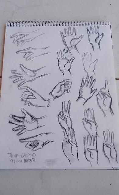 sketches de manos
