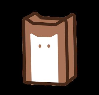 ねこ食パンのイラスト(こげ茶色)
