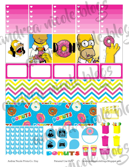 FREE Homer Simpson Planner Sticker Printable