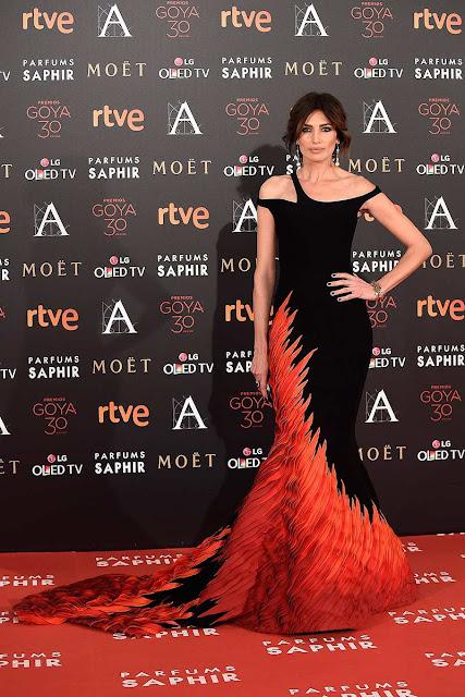 Nieves Álvarez Alfombra roja de los Goya 2016
