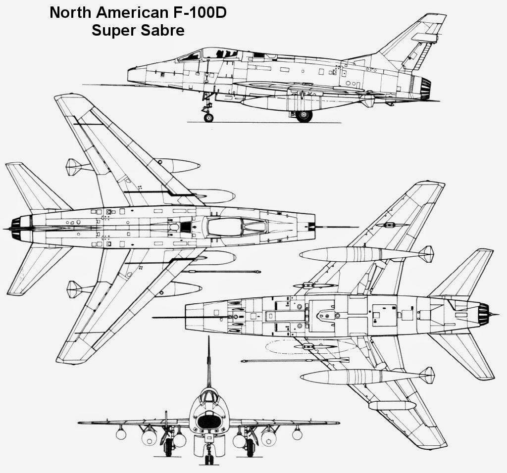 Aviones Caza y de Ataque: North American F-100 Super Sabre