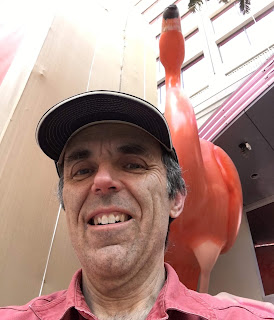A giant flamingo at the Flamingo