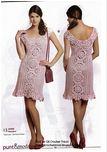 Vestido rosa ganchillo