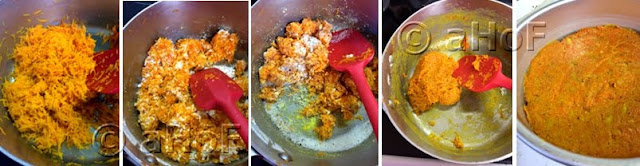 Step by step making Gajar Burfi