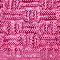 Double Basket Pattern | KnitPurlStitches.com