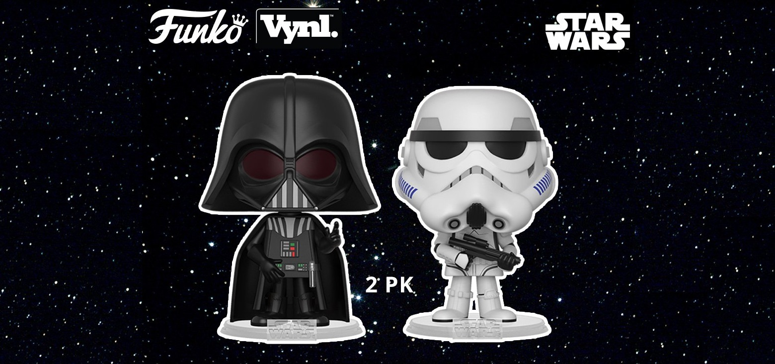 22a946f54ce The Blot Says...  Star Wars Darth Vader   Stormtrooper Vynl 2 Pack ...