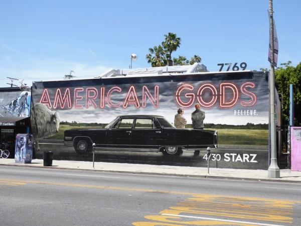 American Gods season 1 wall mural ad