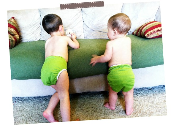 green thirsties duo wrap diaper covers + prefolds