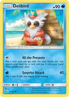 Delibird Guardians Rising Pokemon Card