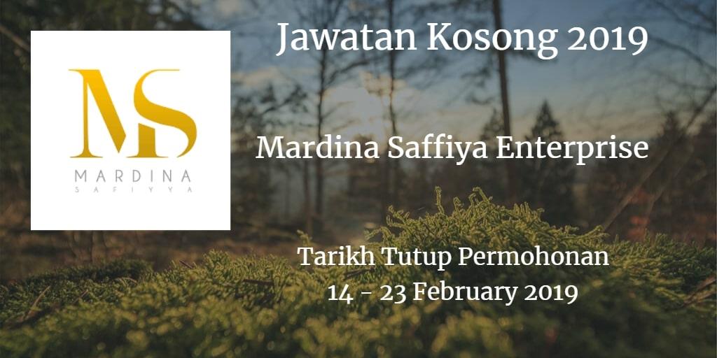 Jawatan Kosong Mardina Saffiya Enterprise 14 & 23 February 2019