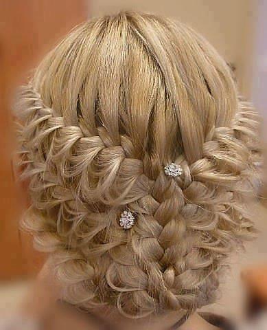 la moda en tu cabello peinados con trenzas para novias 2016