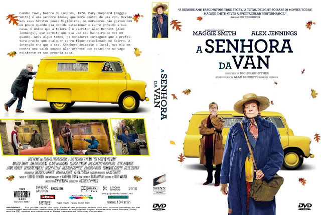 Capa DVD A Senhora Da Van