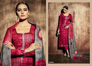 Sargam print matrix Pashmina Winter Salwar Kameez