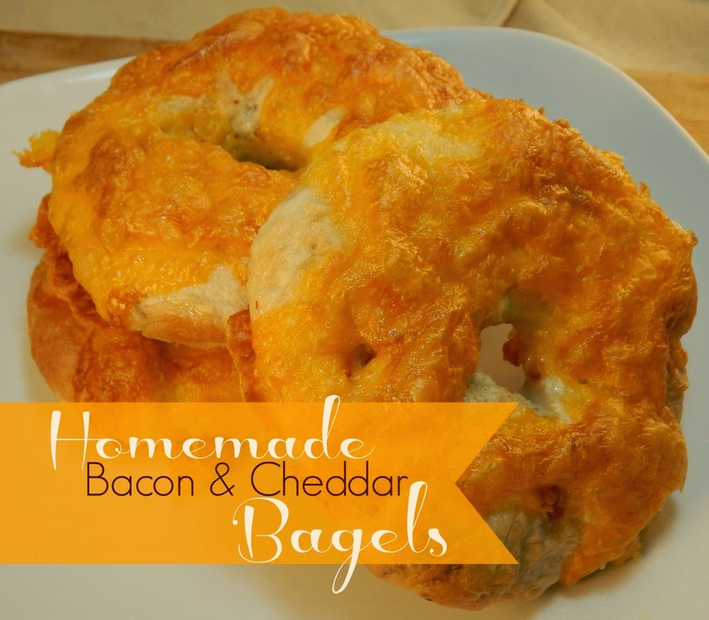 Bacon Cheddar Bagels, shared by We're Far From Normal