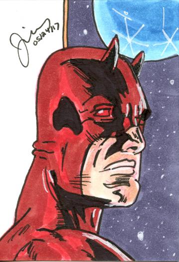Daredevil  Sketch Card