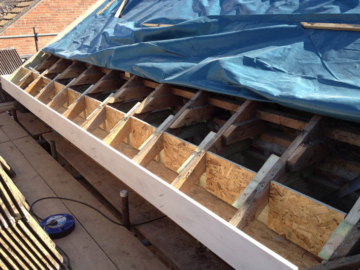 Front Soffit Eaves Work Finished Including Fascia Board