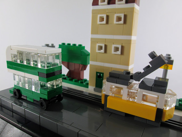 MOC LEGO Rua de Lisboa em micro escala