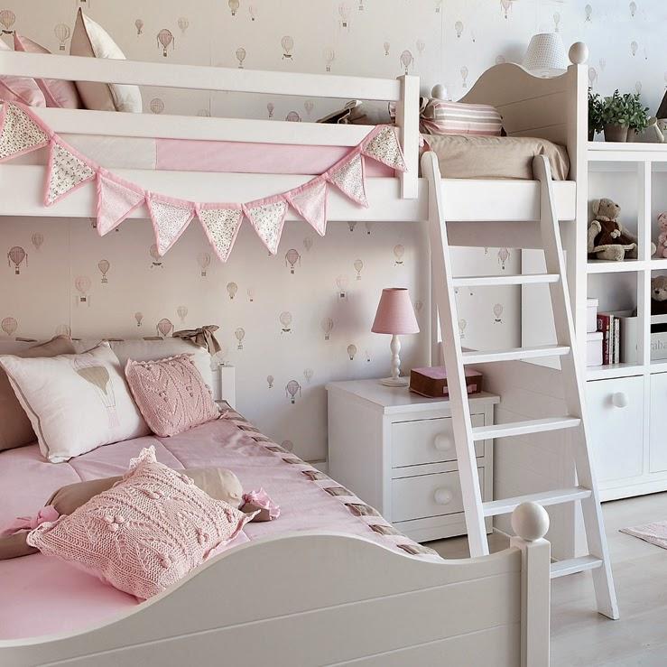 Un dormitorio infantil muy dulce cocochicdeco - Habitacion rosa palo ...