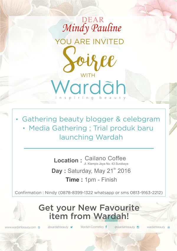 Event report soiree with wardah blogger gathering pink and i cant remember the last time a brand make this kind of personal invitation if ever usually theyd address us by name in the e mail and then just a stopboris Choice Image