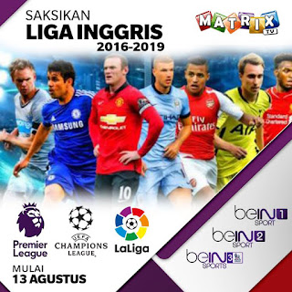 Voucher Matrix Garuda Liga Inggris, Liga Spanyol, Liga Champions