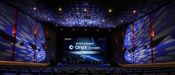 سامسونج تكشف عن أكبر شاشه اونيكس سينما في العالم بسينما بكين كابيتال