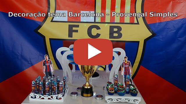 Vídeo decoração de aniversário tema Barcelona - Provençal simples