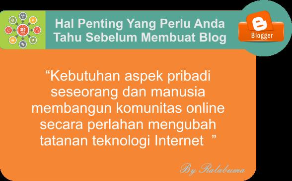 Hal Yang Perlu Anda Ketahui Sebelum Membuat Blog
