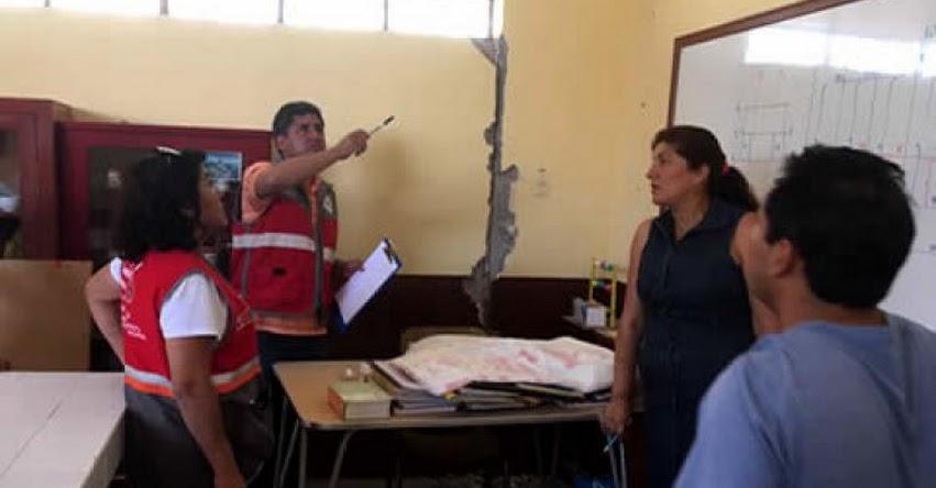 MINEDU dispone inmediata refacción de colegios afectados por sismo de Arequipa - www.minedu.gob.pe