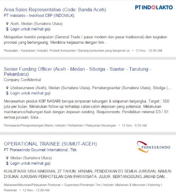 Bulan Ini – Lowongan Kerja Aceh Tenggara Terbaru 2019