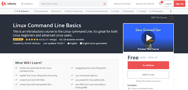 Linux Command Line Basics-Udemy Free (100%)