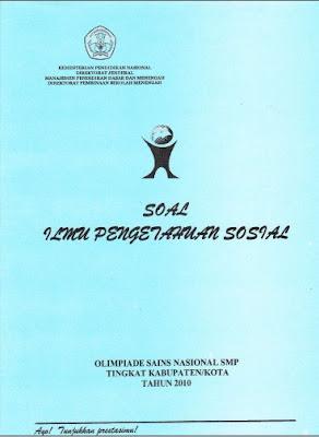 Latihan Soal Sejarah OSN IPS SMP Kota / Kabupaten Tahun 2010