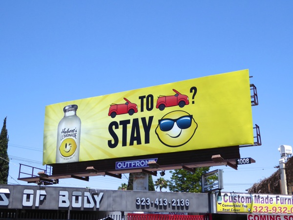 Huberts Lemonade Bumper to bumper billboard