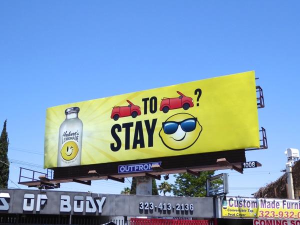 Huberts Lemonade Bumper to bumper billboard